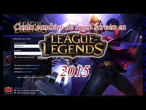 Como cambiar de login screen en League of legends   Tutorial rapido   2015