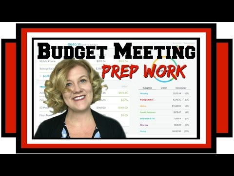 Monthly Budget Meeting