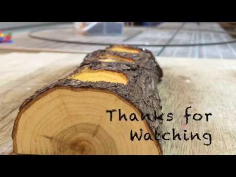 Making A Log Candle Holder CREATIVE FROM STONE