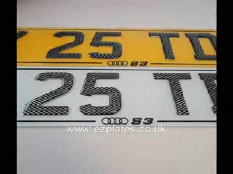 3D Carbon Gel Edges, 3D Carbon Gel Fonts, 3D Carbon Chrome Fonts  a Selection of  Show Number Plates