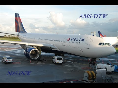Flight Experience | Delta 135 | Airbus A330-200 | Amsterdam to Detroit
