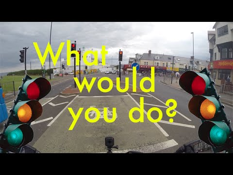 Running a red light! What would you do?