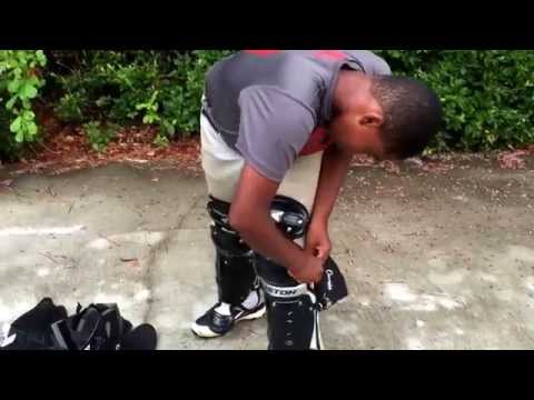 How to put on catchers gear 2015