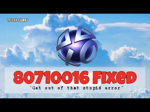 PSN Error 80710016 FIXED - 2017 working