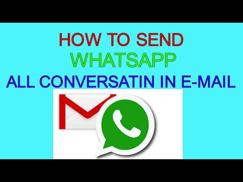 How to send Whatsapp chat in Email watch in hindi