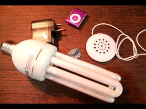 Turn a dead lighting bulb to music auto play ceiling speaker - trailer