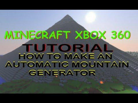 How to make an auto mountain generator Minecraft XBOX 360