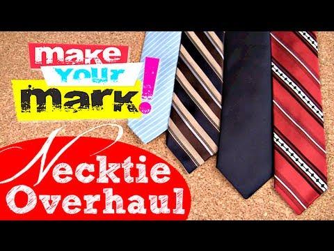 How to: Update & Slim Down a Necktie