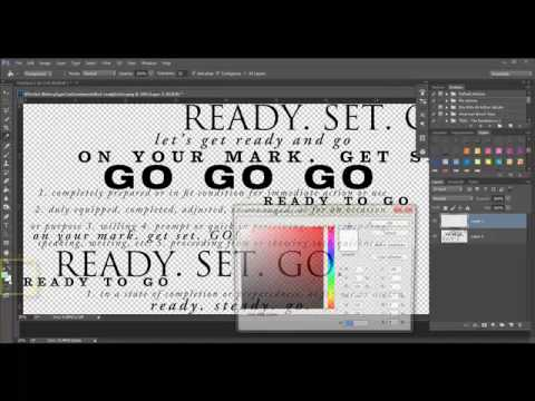 Creating Ombre Colored Word Art in Photoshop and PSE