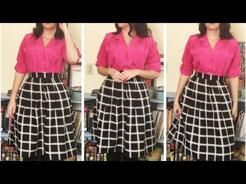 Faux Vintage Review: Hika High Waisted Midi Skirt from Amazon