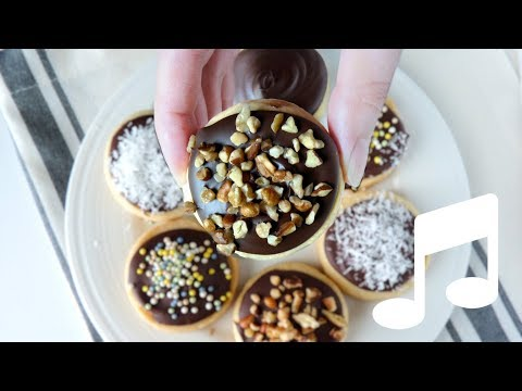 Chocolate Covered Shortbread Cookies - Small Batch (Soft Music)