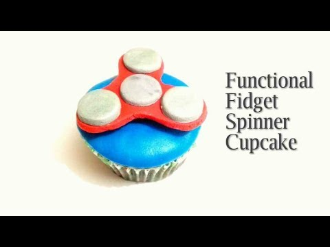 How to make FIDGET SPINNER CUPCAKE. Edible and Functional FIDGET SPINNER Cupcake Topper