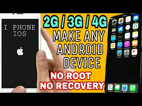 how to convert ANY ANDROID phone IPHONE  NO ROOT ,NO RECOVERY
