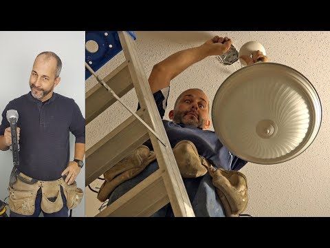 How To change a stairwell light fixture safely and easily
