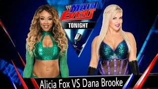 WWE Main Event 2017.01.20 Alicia Fox vs Dana Brooke