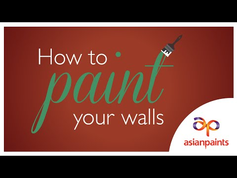 How to paint your walls