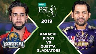 Match 28: Full Match Highlights Karachi Kings vs Quetta Gladiators   HBL PSL 4   HBL PSL 2019
