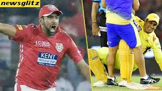 DHONI unveiled his Severe Back Injury : IPL 2018   Ashwin , KXIP vs CSK   Latest News