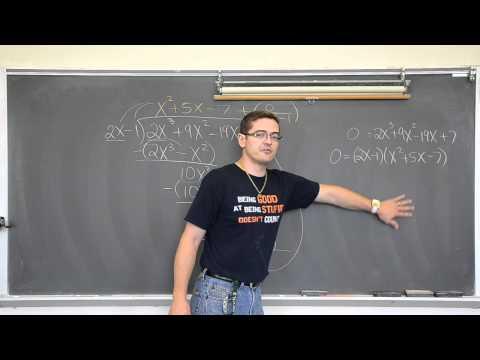 Long Division Of Polynomials