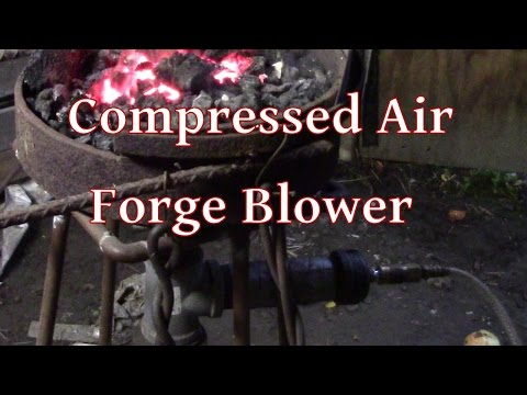 DIY Compressed Air Forge Blower