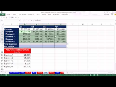 Office 2013 Class #38: Excel Basics 20: Relative, Absolute and Mixed Cell References