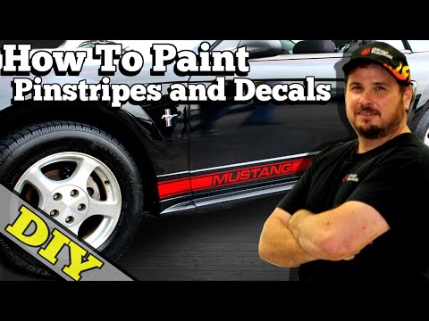 How To Paint (Pinstripes and Decals) THE EASY WAY - Eastwood Mustang Project