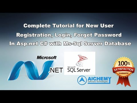 Complete User Login Panel in Asp.net C# | Code to create Login, Registration, Forget in Asp.net