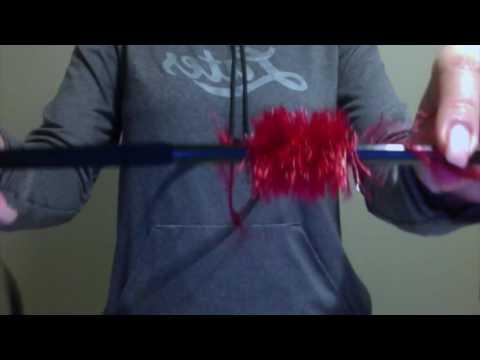Fuzzy Yarn Lei Making