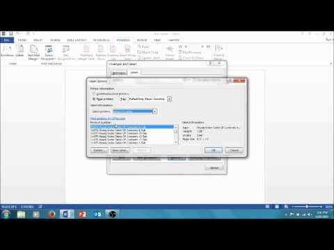 Making address labels in Microsoft Word 2013