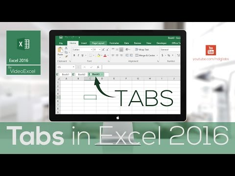 VideoExcel - All about TABS in Excel 2016 (Tabs 101)