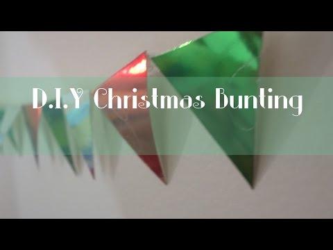 Easy DIY Christmas Bunting
