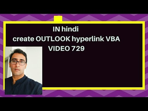 How to create hyperlinks in outlook email - Friday Special Hindi