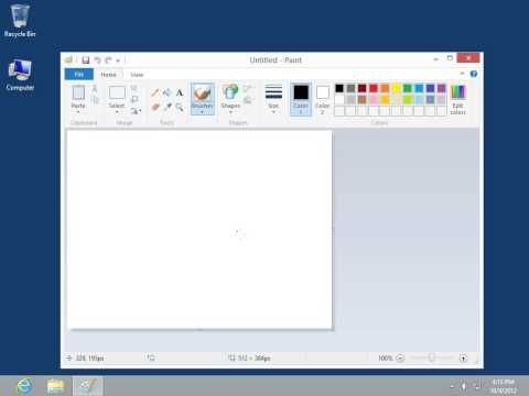 Windows 8.0 Professional - Draw a Free Form Line in Paint