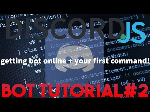 ✅HOW TO MAKE A DISCORD.JS BOT 2017 (getting bot online + first command) | Discord.JS Bot Tutorial#2✅
