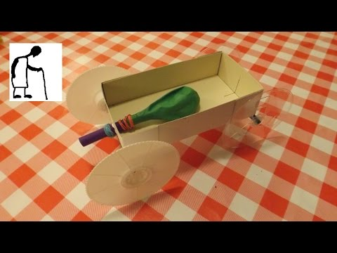 Let's make a Balloon Jet Car with wheels from VHS tape cassette