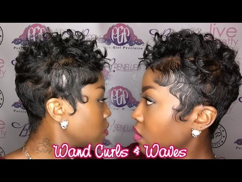 Wand Curls on Short Hair  Waves