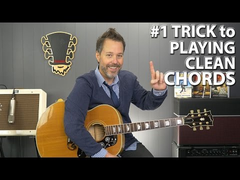The #1 Trick to Playing CLEAN Sounding Chords on the Guitar