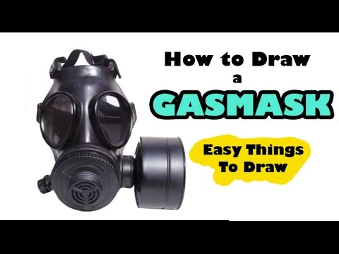 How to Draw a Gas Mask - Steampunk - Easy Things to Draw