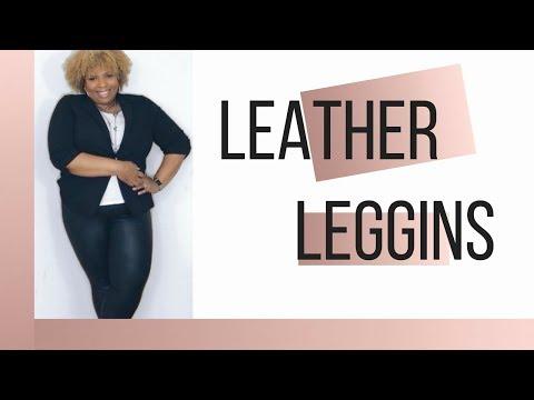 5 Ways to Style Leather Leggings | Plus Size