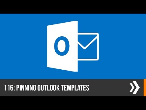 Creating and Pinning Template Emails in Outlook | Everyday Office 006