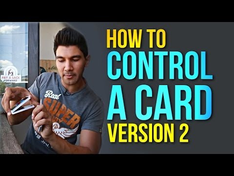Sleight Of Hand Magic! How To Control A Card - Version 2!
