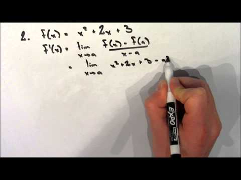 Calculating a Derivative Using the Definition of a Derivative - Example 2