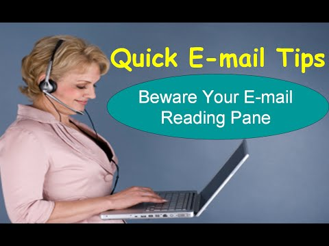 Beware Your E-mail Reading Pane