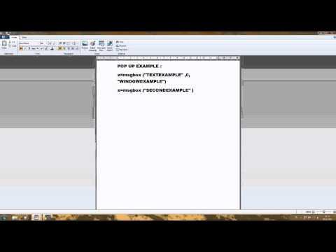 Simple Windows PopUp Script