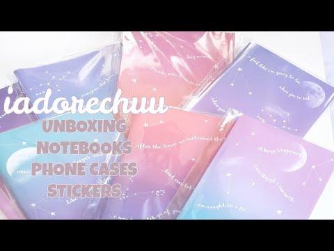 [UNBOXING] IADORECHUU BTS (Bangtan Boys) 방탄소년단 Goods - Notebooks, Phone Cases & Stickers!