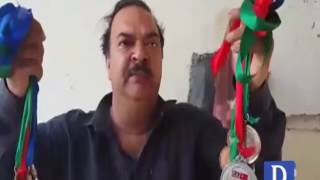 Former Olympian Zahid Sharif selling his medals