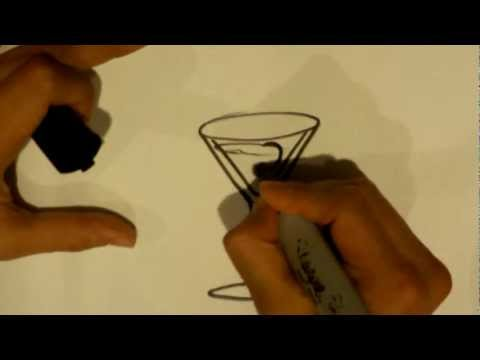 How to Draw a Martini Glass - Easy Drawings