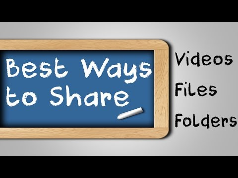 How To Send Big Files/ Videos/ Photos to Friends - How To