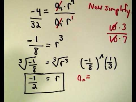 Geometric Sequences: A Formula for the' n - th ' Term , Part 1