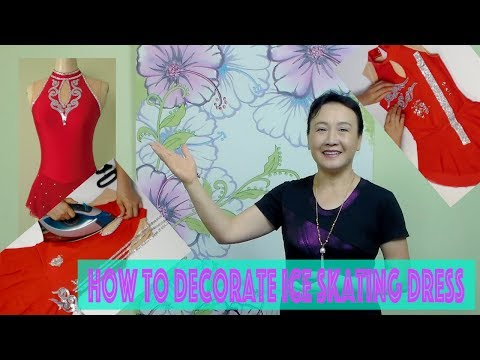 How to decorate figure skating dress  video #33